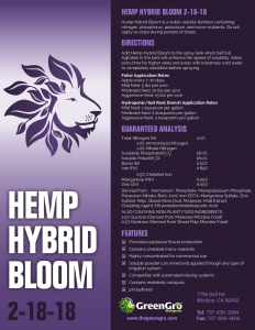 Hemp Hybrid Bloom