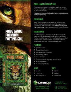 Pride Lands Premium Potting Soil