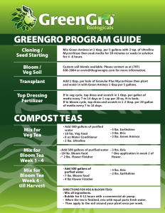 GreenGro Program Guide